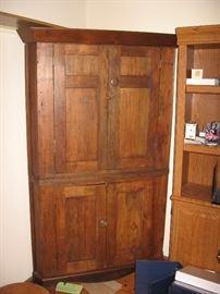 Large rustic style corner cabinet
