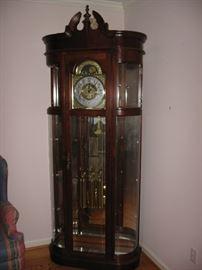 Large Ridgeway Grandfather clock.
