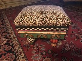 Small footstool with storage.