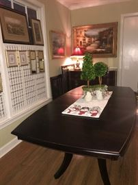"Dining table with one leaf.  36"" x 48-68""."