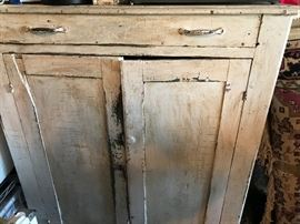 Rustic antique cabinet.  Great storage!