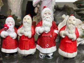 Antique porcelain Santas