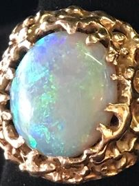 Same opal and gold ring pictured previously.Beautiful opal.