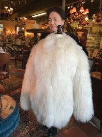 Mongolian curly lamb fur coat  1400. On sale 700. Designed by Samuel Spritzer    Size M