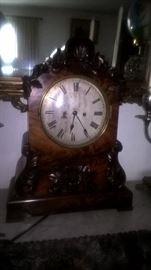ENGLISH ROSEWOOD TWIN FUSEE BRACKET CLOCK