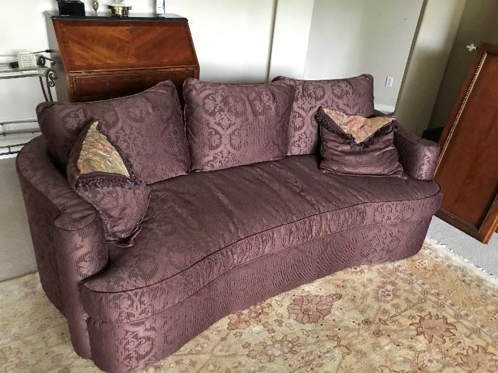 Bernhardt Couch Kidney Shaped