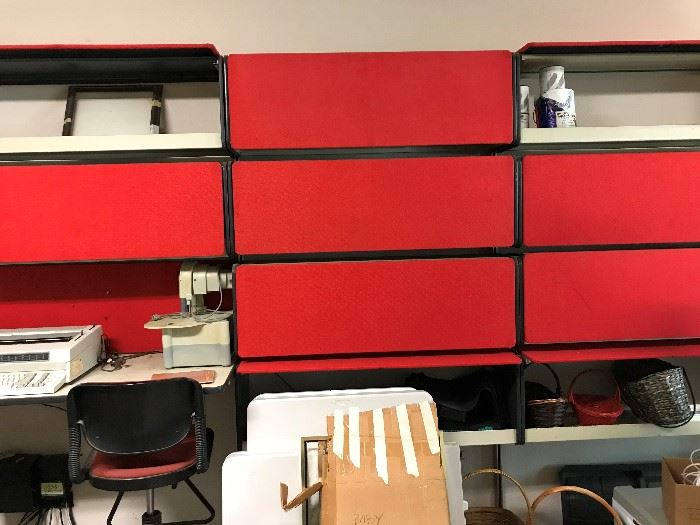 Vintage Cubicle Wall Unit- Great for Garage Storage