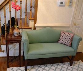 Baker Side Table & Upholstered Settee