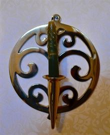 Pair of Brass Sconces