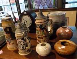 A German stein may be just the gift for the man on your list. Hand carved bowls are interesting decorative accents.