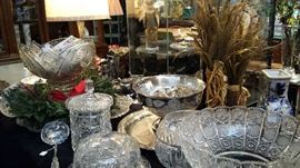 Choose from three glass punch bowls and one silver plated bowl for your holiday punches or eggnog.