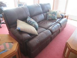 Lazy Boy Leather Double Reclining Sofa