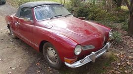 1973 Karmann  Ghia Convertible with automatic shift.