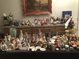 Royal Doulton figurines and TobyMac stating from the 1920s were the 90s, occupied Japan figurines,collectibles and glassware from Italy, Germany, France, Scotland and Holland