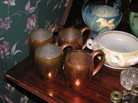 Copper Cups Set of 4