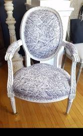 Louis Chair w/Paris Print Fabric