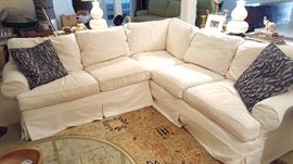 Mitchell Gold + Bob Williams Slipcovered Sectional Sofa