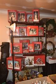 St. Nicholas Square collectibles with boxes