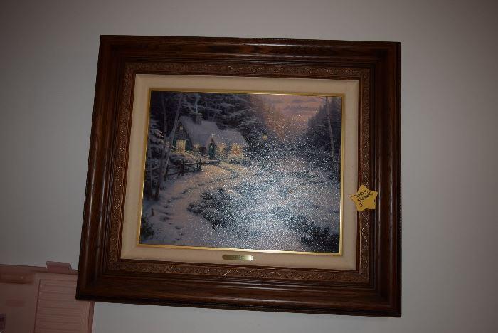 thomas Kinkade framed painting