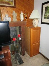 Nice Oak Cabinet (Great for storing CDs DVDs