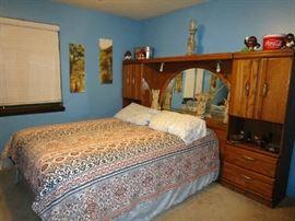 Full size lighted bridge bed