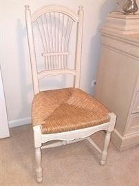 Whitewash cane chair