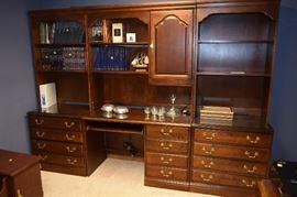 Computer Desk Hutch, Bookcases with File Storage