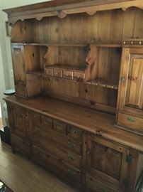 Hutch, Amana Colony, made on Pella Iowa   approx 74 inch ht   71 inch long and 17 inch depth,  beautiful condition