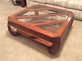 Two end tables and matching coffee table