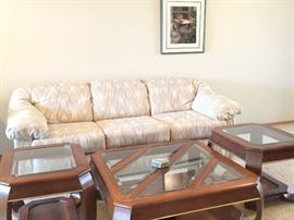Sofa and 3 piece matching end tables/coffee table