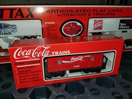 Coca-Cola die cast train