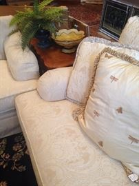 Decorative pillows and end table
