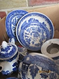 Blue and White Pieces