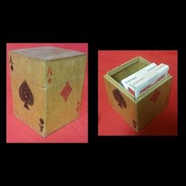 Wooden Card Holder Box
