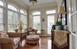 Sun room furniture, lamps, side table