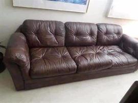 3 cushion tufted sofa-$ 250