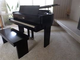 "Steinway Art Deco/Cubist S Model  Baby Grand 5'1"", made in Hamburg, Germany approx. 1937, designed by industrialist Walter Dorwin Teague"