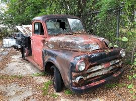1950s Dodge Truck. Will need to be towed. Great for restoration or decoration.