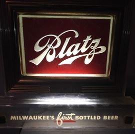 Original Price Bros. Blatz Beer Register Topper Light