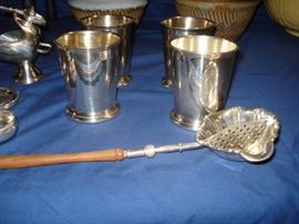 sterling mint juleps & strainer