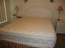 Queen size, double pillow mattress