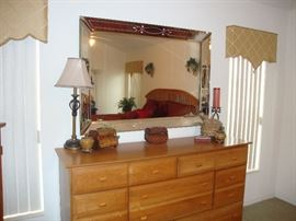 Large ornate mirror (sold separately)