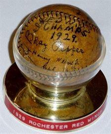 1929 Rochester Red Wings Signed Team Baseball