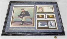 Signed Joe DiMaggio Collage Plaque