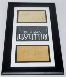Signed Led Zeppelin Cuts Collage