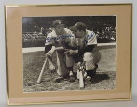 Signed Mickey Mantle / Yogi Berra Photo