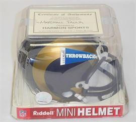 Signed Marshall Faulk Mini Helmet