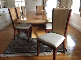 Italian Design Interiors Dining Room Set with Six Side Chairs