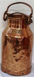 Copper milk can