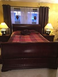 Sleigh Bed / Night Stands